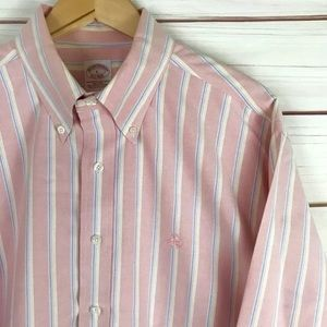 Brooks Brothers Men's Pastel-Pink Button Down